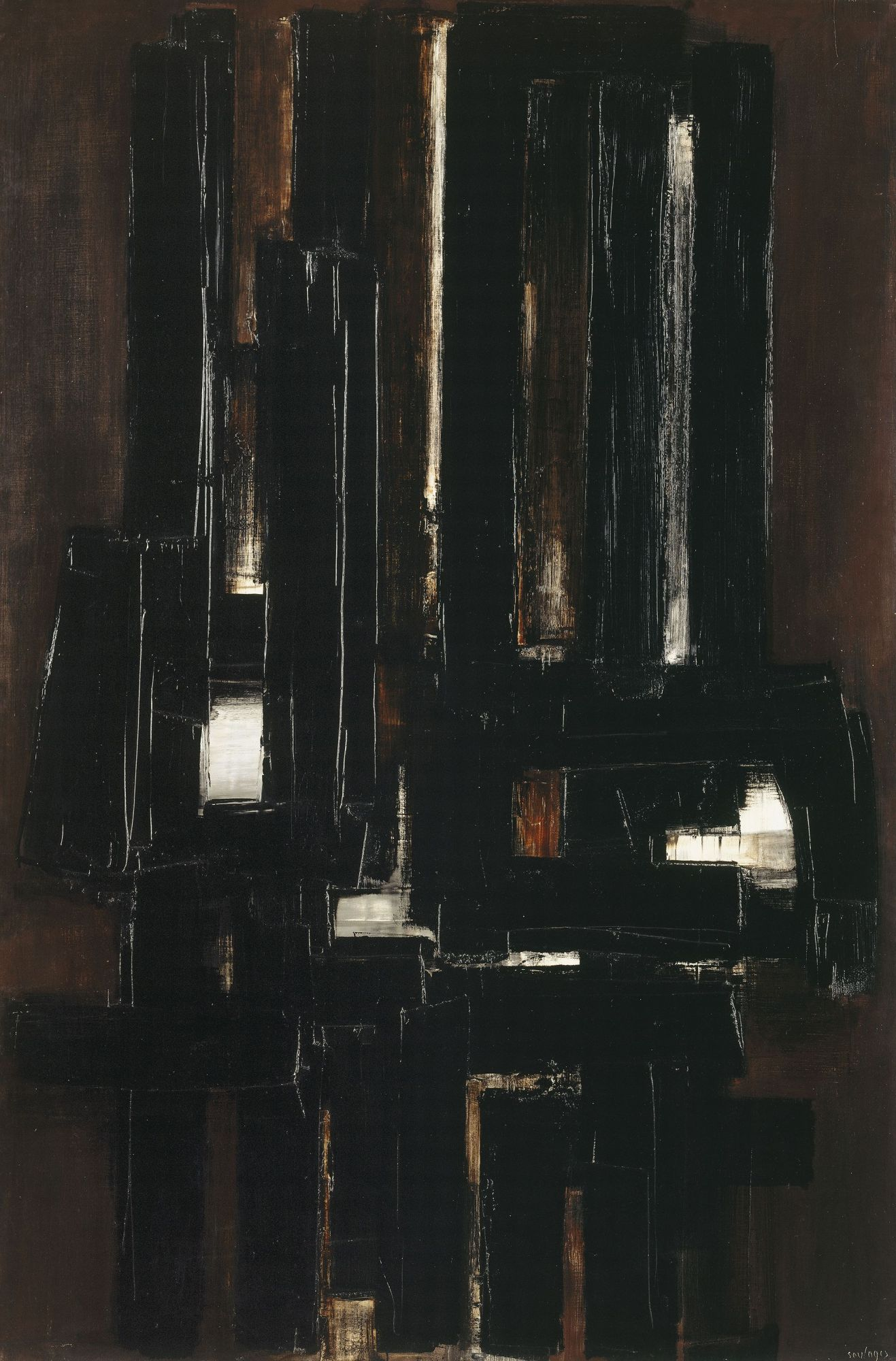 peinture 1956 pierre soulages n en 1919. Black Bedroom Furniture Sets. Home Design Ideas