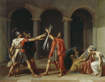 Le Serment des Horaces, jacques louis david