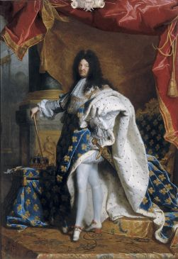 Portrait en pied de Louis XIV âgé de 63 ans en grand costume royal